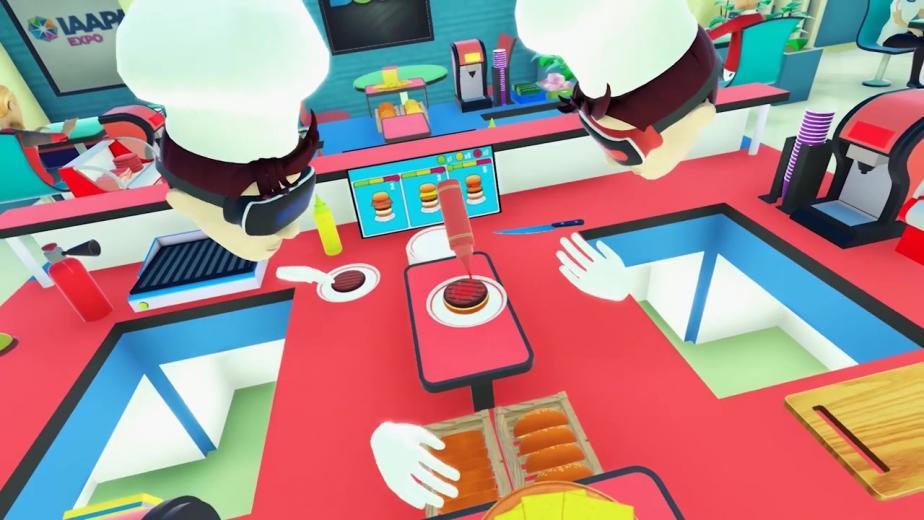 Hamburgers bakkan VR